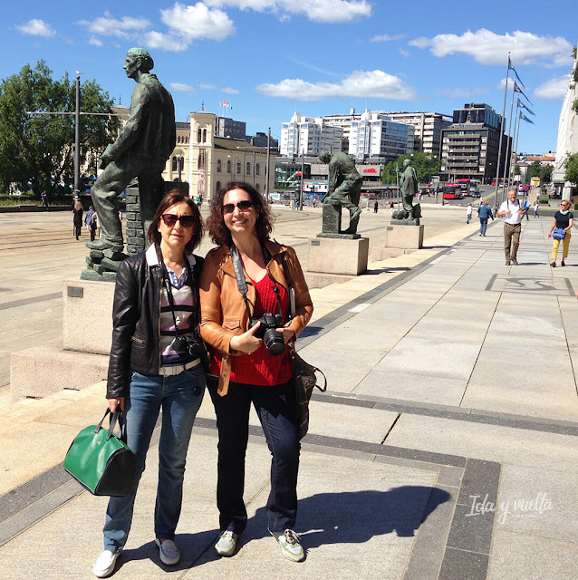 En Oslo con mi amiga María José
