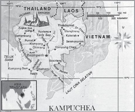 Letak Geografis dan Astronomis Kamboja, Iklim, Bentang Alam, Bentuk Pemerintahan, Keadaan Ekonomi Sosial Budaya serta Luas dan Batas Wilayah Negara Kamboja