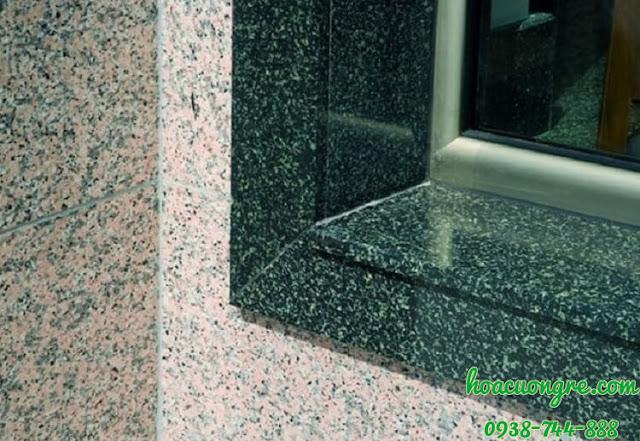 granite xanh Hassan ốp ngạch cửa