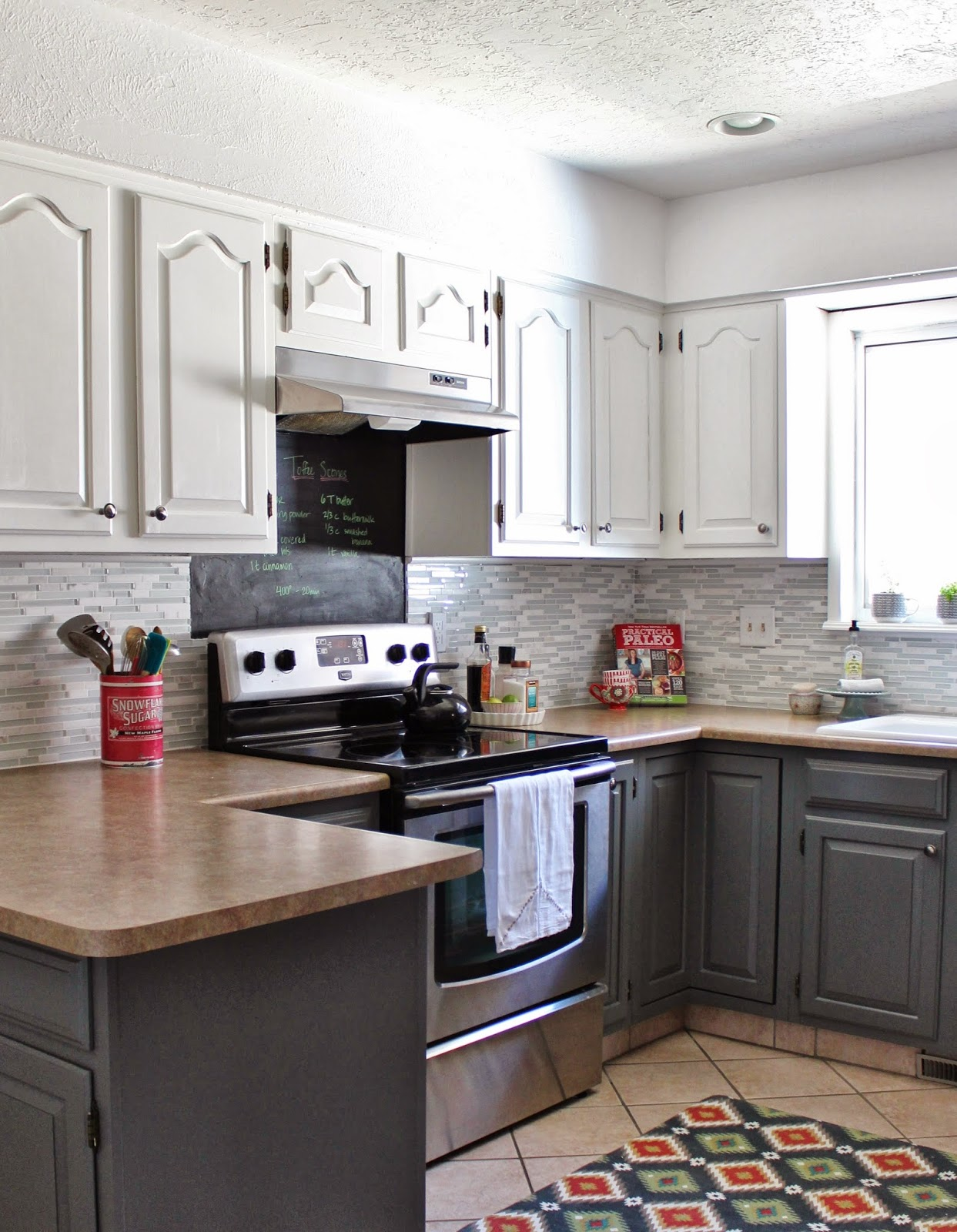 Painted Gray Kitchen Cabinets Aid Cover Grey Paint Color For Interior