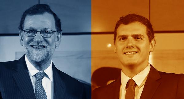El paripé de Rajoy y Rivera