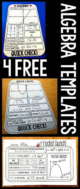 Free Algebra templates