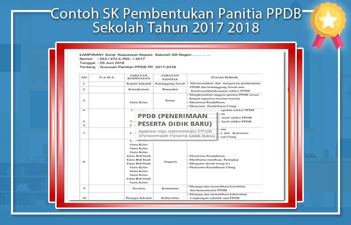 Contoh SK Pembentukan Panitia PPDB Sekolah Tahun 2017 2018