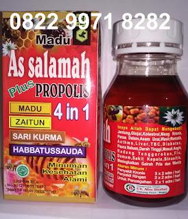 Jual khasiat madu propolis 4in1 as salamah manfaat asli original