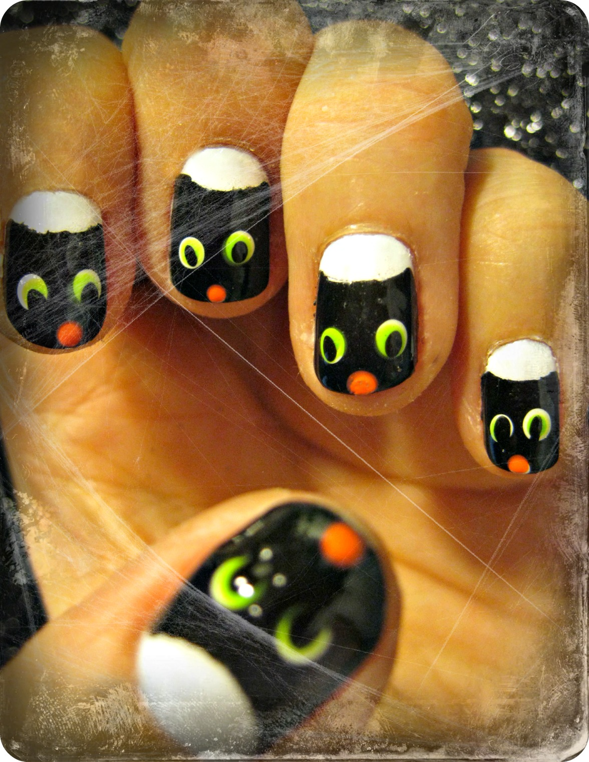 ...Make It With Me: Black Cat Nail Art