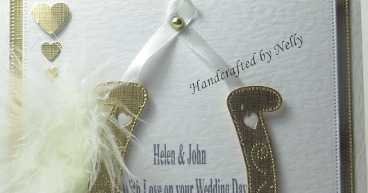 Nellys Crafty Card Attack: Lucky Horseshoe Wedding Cards: Handmade chat and craft projects