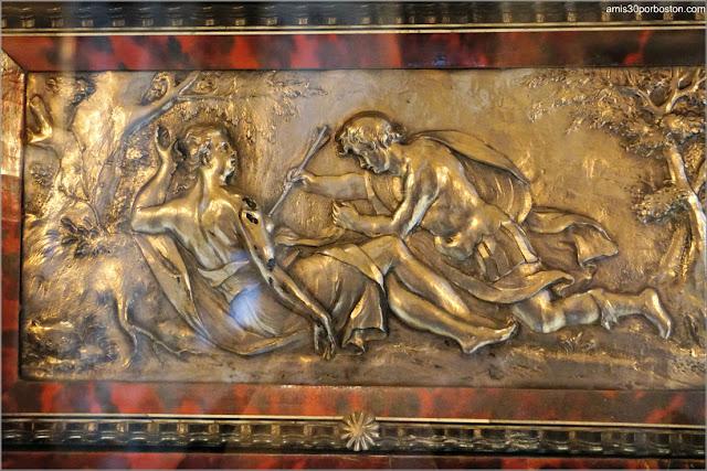 Placa de Plata del Armario de Ébano Belga de la Mansión The Elms en Newport