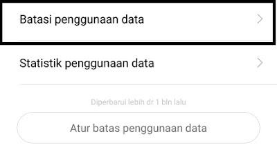 membatasi penggunaan data pada xiaomi