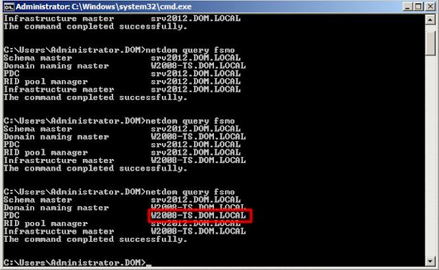 La función de Emulador de PDC ya la ostentará nuestro servidor productivo.