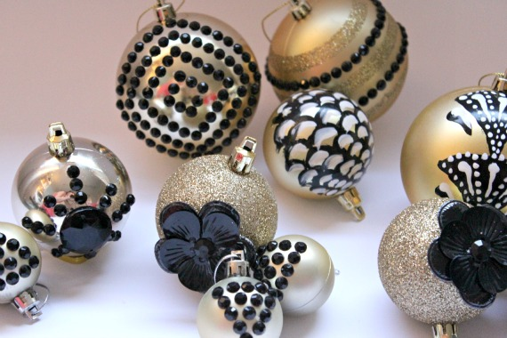 Art Deco Christmas Ornaments Decorations DIY Tutorial