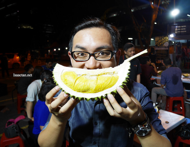 "A big ""durian smiley"" for all, now join me at this upcoming charity event yes?"