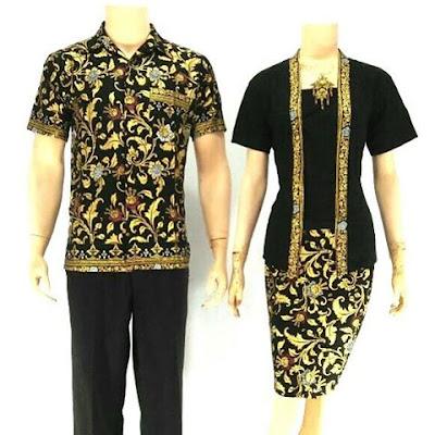 Batik Sarimbit Velisa Rose Hitam