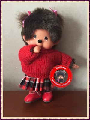 Jupe plissée écossaise pour Kiki ou Monchhichi - vêtement -couture - fait main - handmade