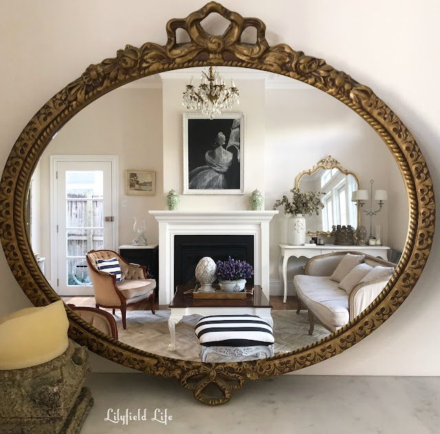 vintage gilt bow mirror Lilyfield Life