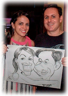 caricatura ao vivo em evento de gravatá