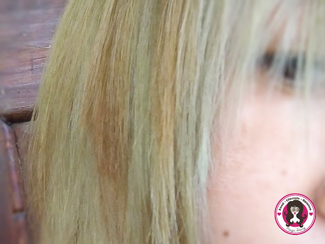 Platinum hair turned green hair by hard water