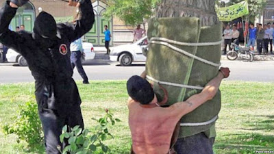 Medieval: Public flogging in Iran