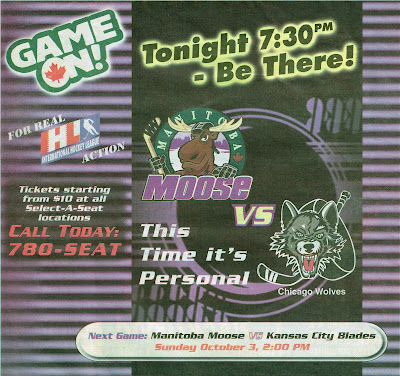 Game On! 1999 Manitoba Moose Vs Chicago Wolves