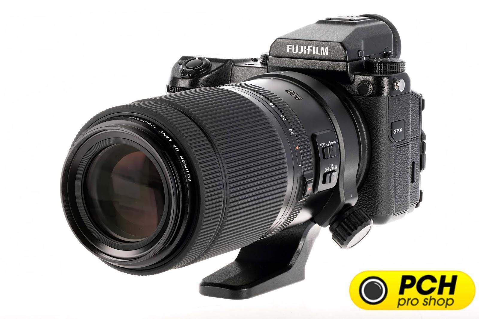Объектив Fujinon GF 100-200mm f/5.6 R LM OIS WR с камерой Fujifilm GFX 50S