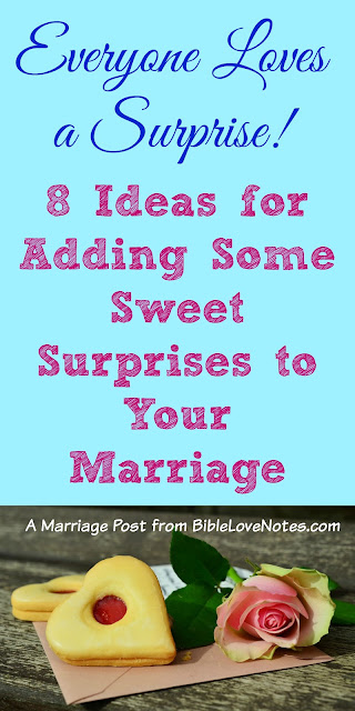 Keeping marriage fun with surprises