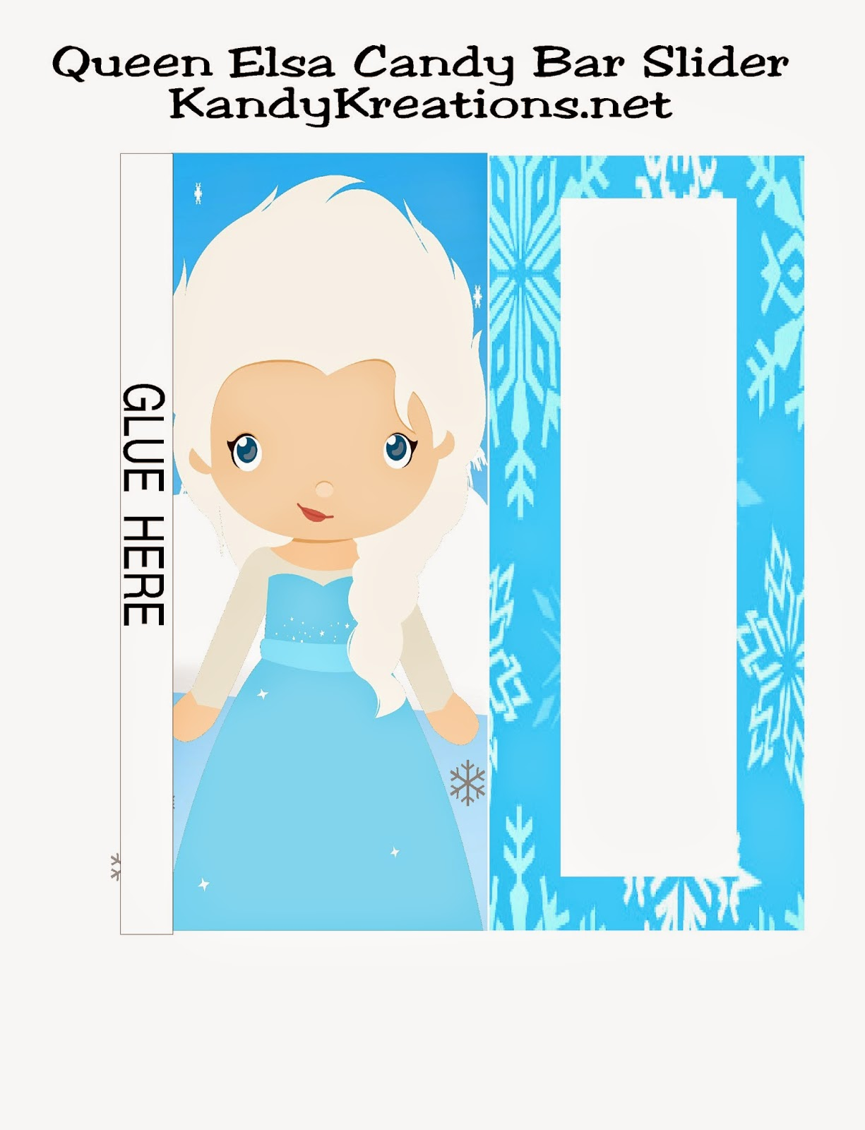 Queen Elsa Frozen Candy Bar Wrappers Free Printable by KandyKreations