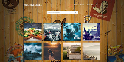 Creative шаблон для blogger