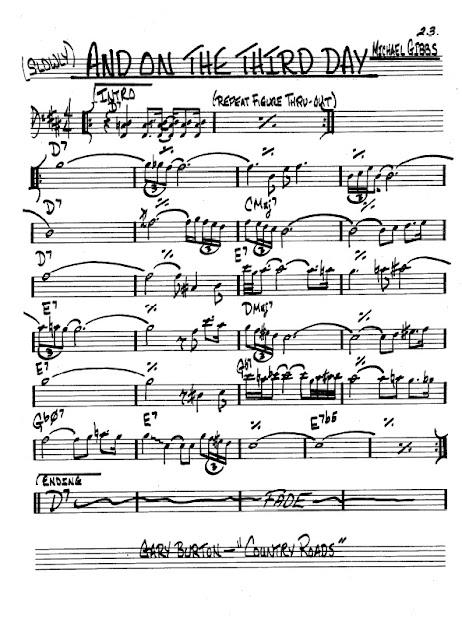 Partitura Trombón Michael Gibbs