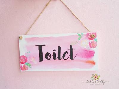 wall decor toilet lucu dan unik untuk dekorasi kamar mandi