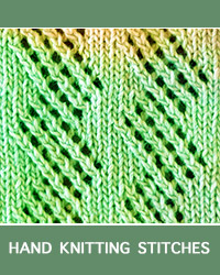 How to knit the Zig Zag Lace Pattern. This is a pattern for a beginner level knitting throw made with medium worsted acrylic yarn.