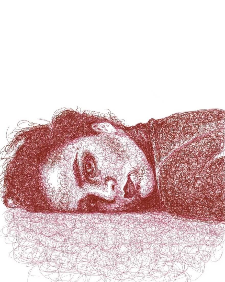 07-Andrea-Jennifer-Ackerman-Digital-Art-Scribble-Drawing-Portraits-www-designstack-co