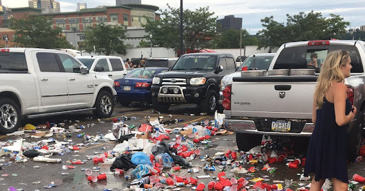 Once Again, #KennyChesney fans trash #Pittsburgh and Leave Town