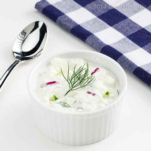 Chilled Cucumber Soup with Yogurt and Dill