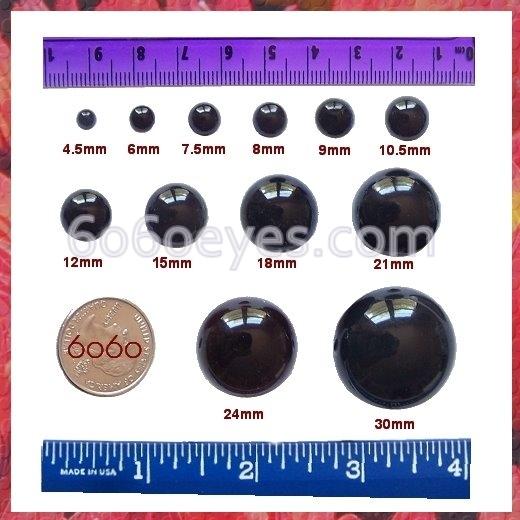 Amazon.com: 6mm Safety Eyes Plastic Eyes Plastic Craft Safety Eyes ... | 520x520