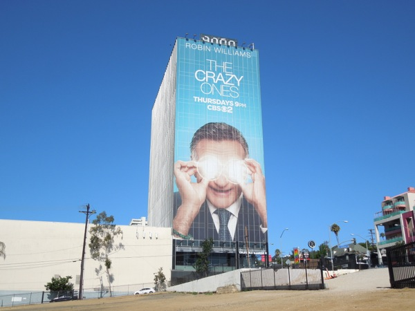robin williams Crazy Ones billboard Sunset Strip