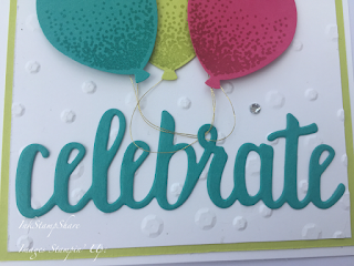 Celebration Card with Balloon stamps and punch