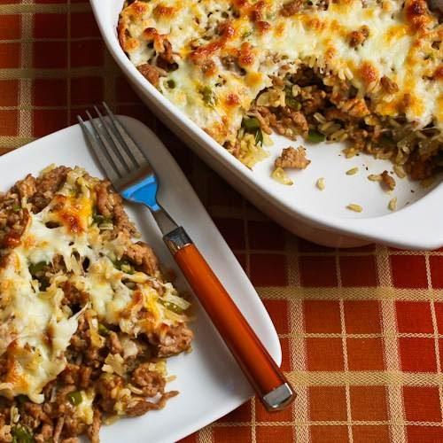 Green Kitchen Recipes: Kalyn's Kitchen®: Easy Brown Rice Casserole With Turkey