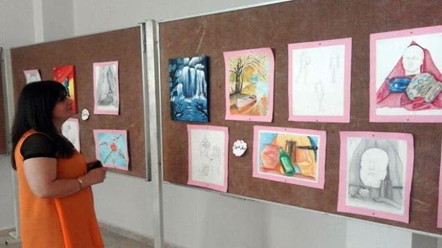 خمسون عملاً فنياً بمعرض في ثقافي شهبا بالسويداء