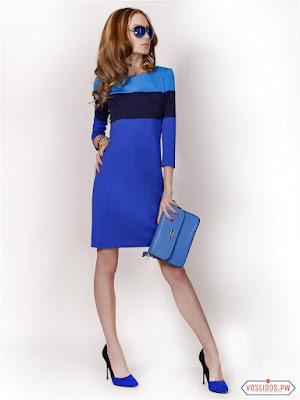 vestidos color azul reciclados