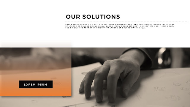 Our Solutions Presentation for Powerpoint Template Section Title