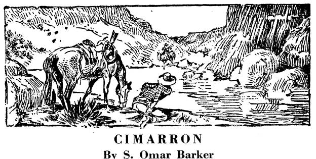 Illustration for Cimarron by S. Omar Barker in Western Story Annual, 1948