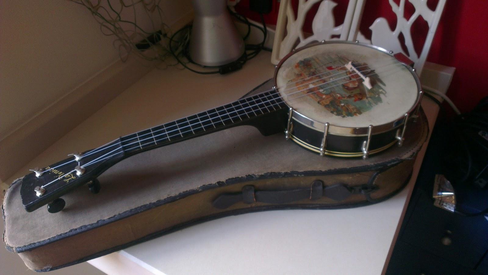 the ukulele restoration barn banjo ukulele for sale. Black Bedroom Furniture Sets. Home Design Ideas