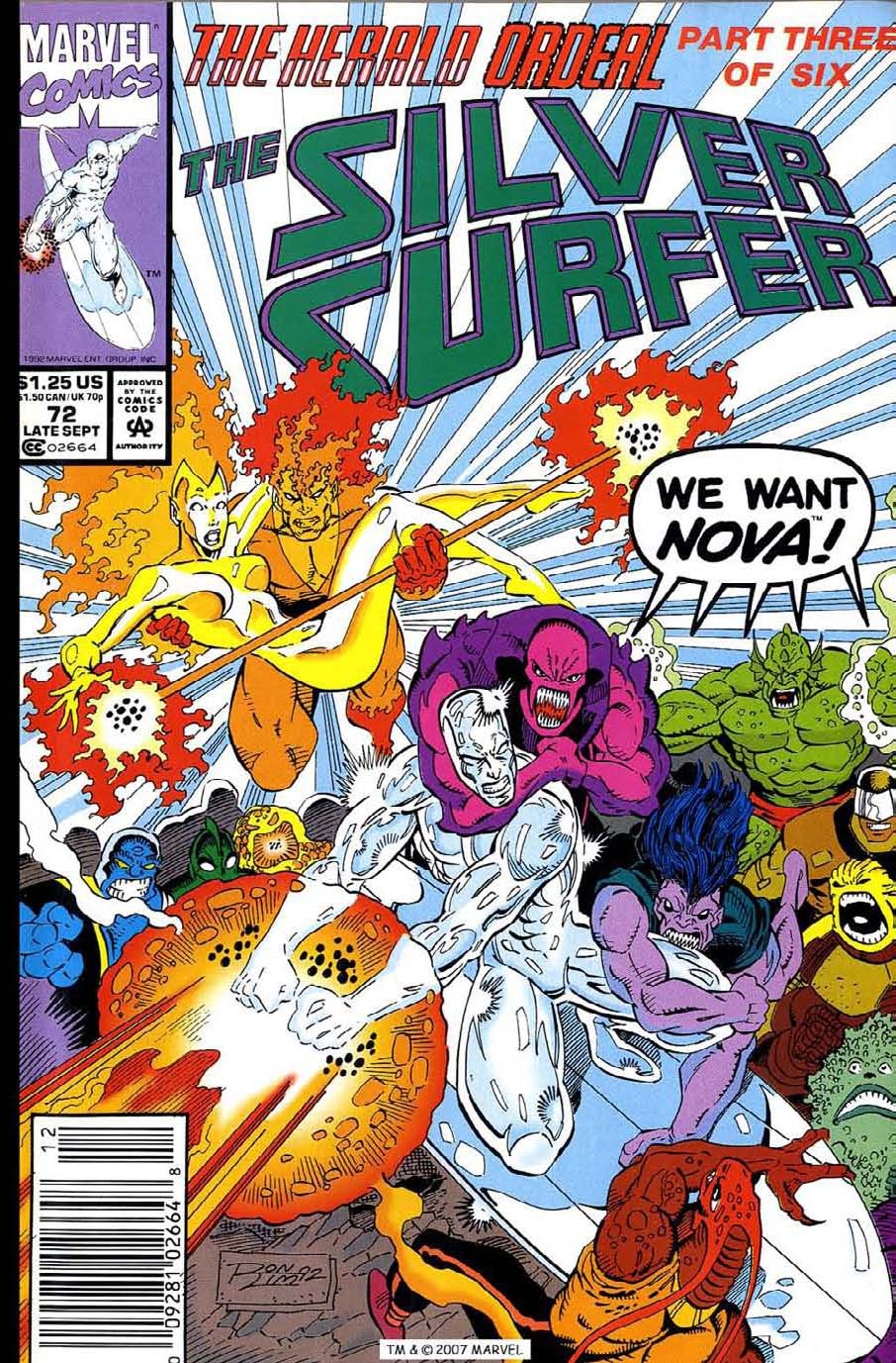 Read online Silver Surfer (1987) comic -  Issue #72 - 1