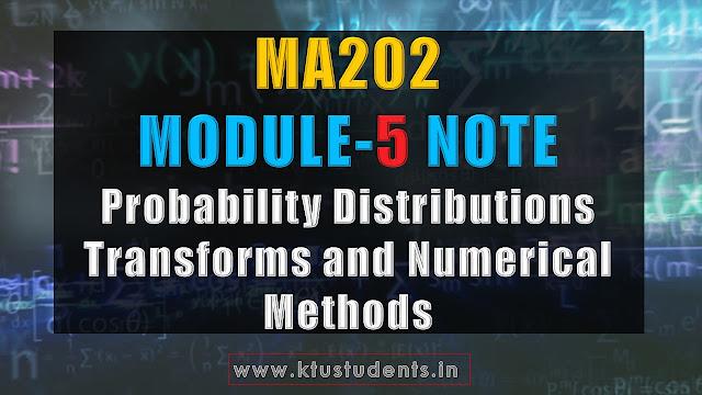ma202 note module 5