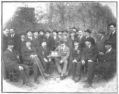 Organizadores y jugadores del III Campeonato de Barcelona 1914