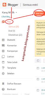 langkah dasar memulai menulis posting artikel di blogspot dan mengenal tanda ketik. Kang Malik