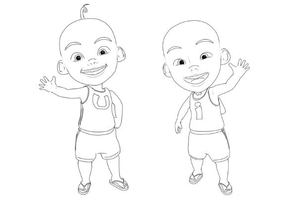 Mirzan Blog S 20 Trend Terbaru Cara Menggambar Kartun Animasi Upin Ipin