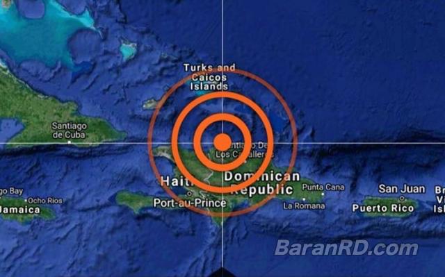 Temblor de 5.2 se sintió en República Dominicana