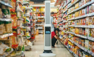 Robot Working in Supermarket! , Will man be eliminated?