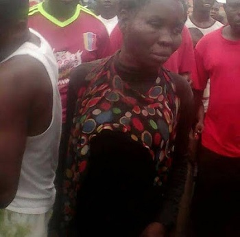 Caught In The Act, Sets Abalze; A Woman Kidnapper in Lagos This morning