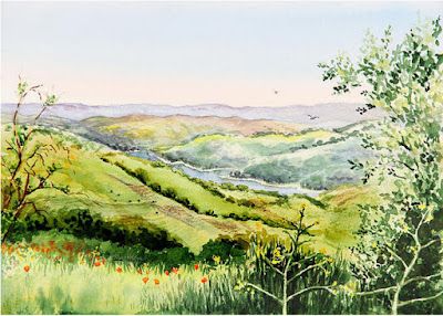 Inspiration Point Orinda California landscape artwork